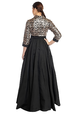 Black Evening Gown With Top by RS by Rippii Sethi