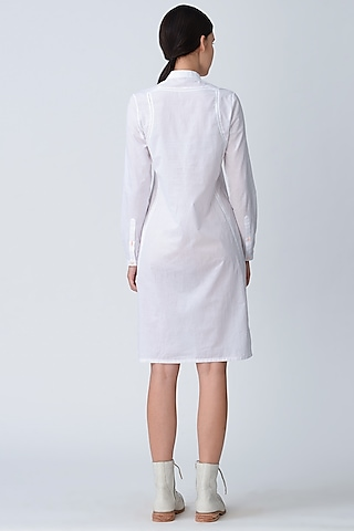 White Fluoroscent Tunic Dress by Rajesh Pratap Singh