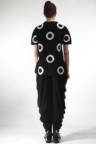 Black Top With Polka Dots by Rajesh Pratap Singh