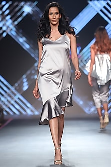 Grey Frill Dress by RS by Rippii Sethi