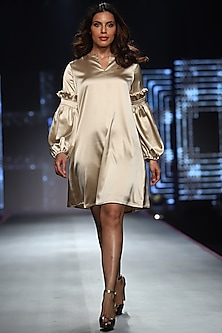 Nude Shift Dress by RS by Rippii Sethi