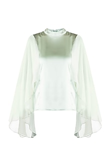 Mint Green Cape Top by RS by Rippii Sethi
