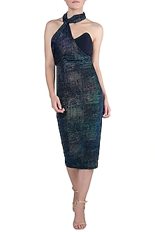 Multicolored Metallic Dress by Rs By Rippii Sethi