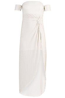 Ivory Metallic Dress by Rs By Rippii Sethi