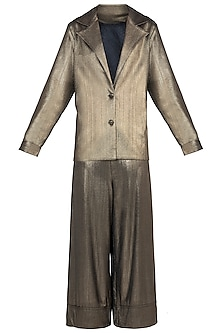 Gold Coat Suit by Rs By Rippii Sethi