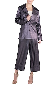 Lilac Coat Suit by Rs By Rippii Sethi