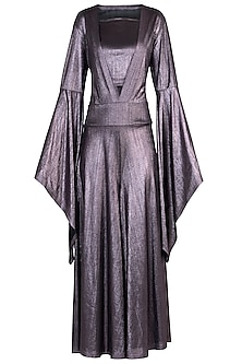 Lilac Metallic Jumpsuit by Rs By Rippii Sethi