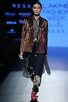 Multi Striped Jacket by Rajesh Pratap Singh