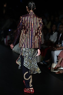 Green Printed Tunic by Rajesh Pratap Singh