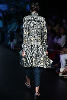 Green Printed Jacket by Rajesh Pratap Singh