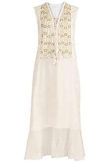 Ivory Embroidered Dress by Rriso