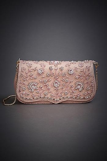 Pastel Pink Embroidered Sling Bag by Ri Ritu Kumar
