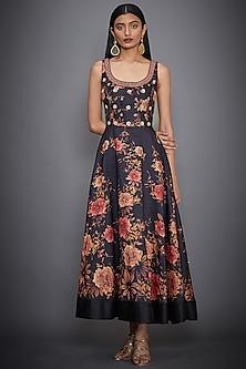 Black Hand Embroidered Dress by Ri Ritu Kumar