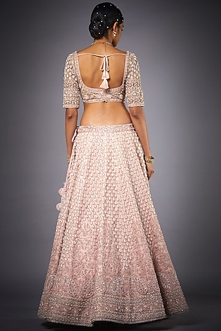 Pink Embroidered Lehenga Set by Ri Ritu Kumar