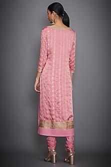Pink Embroidered Kurta Set by Ri Ritu Kumar