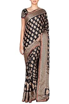 Black Embroidered Saree Set by Ritu Kumar