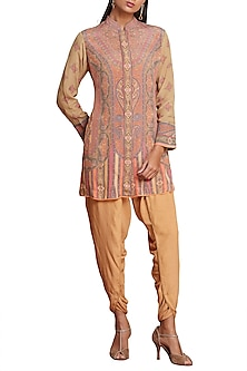 Multi Colored Crepe Kurta by Ritu Kumar