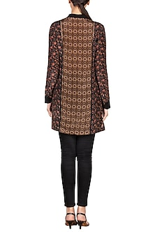 Black & Brown Printed Kurta by Ritu Kumar