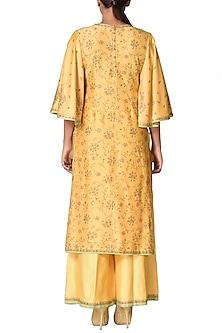 Yellow & Gold Embroidered Kurta Set by Ri Ritu Kumar