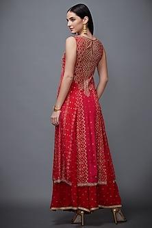 Red Embroidered Kurta Set by Ri Ritu Kumar