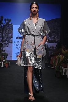 Silver Tent Dress by Rara Avis
