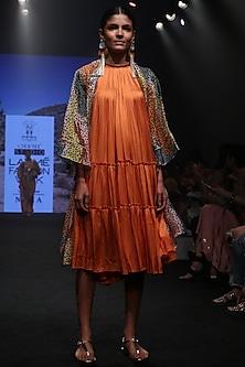 Multicolor Printed Wrap Kimono by Rara Avis