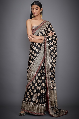 Black Embroidered Saree Set by Ri Ritu Kumar