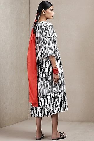 Black & White Printed Dress by Ritu Kumar