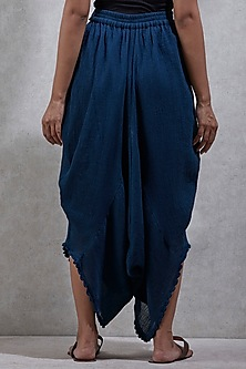 Navy Blue Dhoti Pants by Ritu Kumar