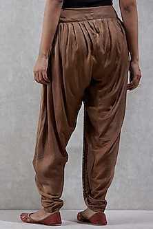Golden Dhoti Pants by Ritu Kumar