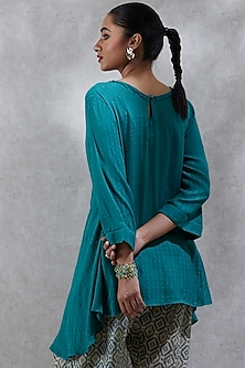 Green Asymmetric Kurta by Ritu Kumar