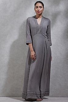Grey Full Sleeves Kurta by Ritu Kumar