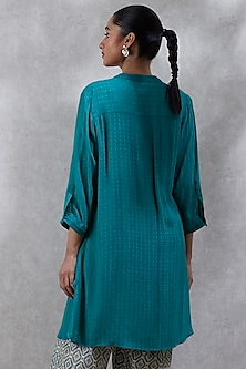 Green Embroidered Kurta by Ritu Kumar