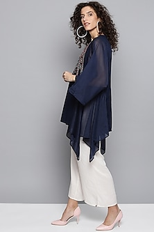 Indigo Blue Embroidered Kurta by Ritu Kumar