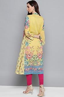 Yellow Floral Printed Kurta by Ritu Kumar