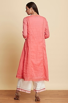 Rose Pink Cotton Kurta Set by Ritu Kumar