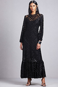 Black Kurta Dress With Camisole by Ritu Kumar