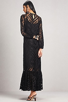 Black Kurta Dress With Camisole by Ritu Kumar