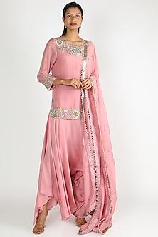Pink Embroidered Kurta Set by Mrunalini Rao-POPULAR PRODUCTS AT STORE