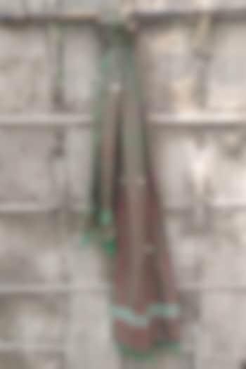 Green Handwoven Stole by Rupali Kalita