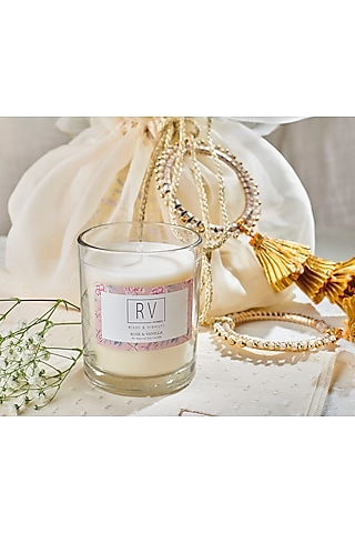 AIvory Aiyana Floral Candles (Set of 3) by Rishi & Vibhuti - Homeware