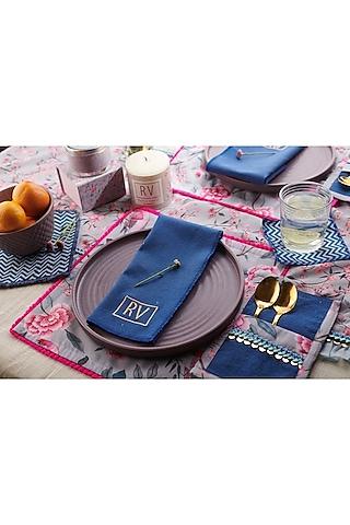 Grey & Midnight Blue Cocktail Set (Set of 13) by Rishi & Vibhuti - Homeware