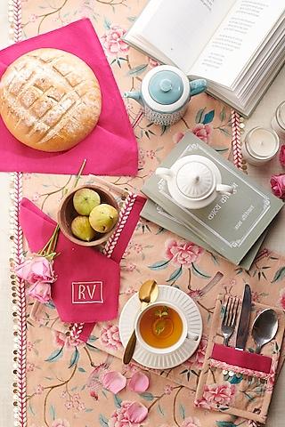 Hot Pink & Peach Tea Set (Set of 13) by Rishi & Vibhuti - Homeware