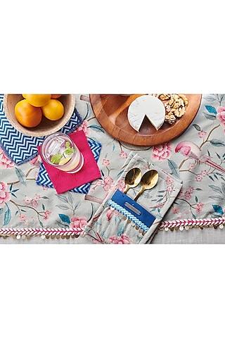 Hot Pink & Aqua Blue Dinner Set (Set of 20) by Rishi & Vibhuti - Homeware