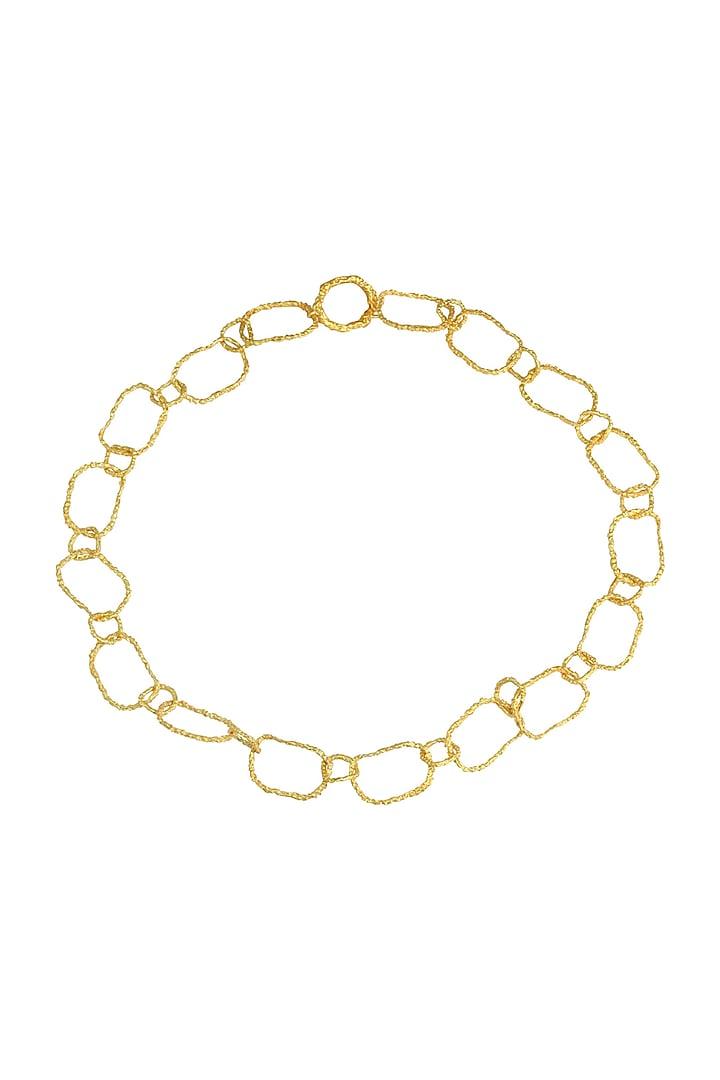 Gold Finish Crudo Catene Waist Belt by Flowerchild By Shaheen Abbas