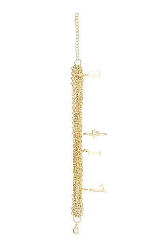 Gold Finish Charm Bracelet by Flowerchild By Shaheen Abbas