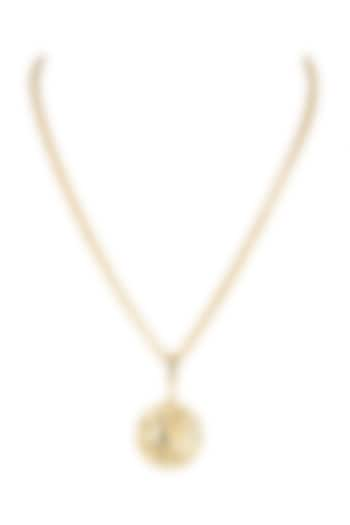 Gold Finish Princess Chain Necklace by Flowerchild By Shaheen Abbas