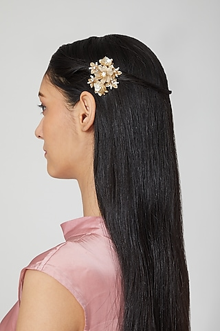 Gold Embellished Tic Tac Clips by Studio Accessories