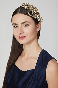 Gold & Silver Floral Hairband by Studio Accessories