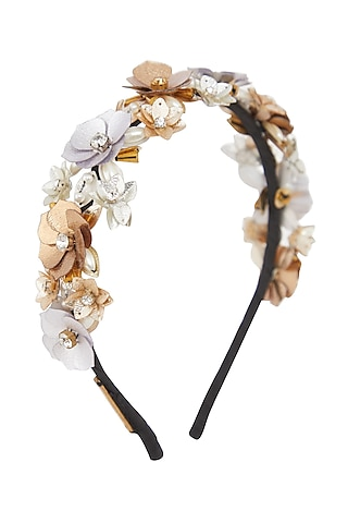 Gold & Silver Embellished Hairband by Studio Accessories